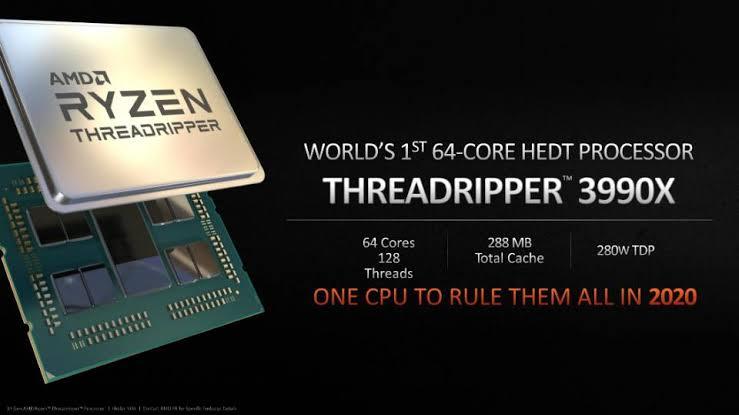 Ryzen Threadripper 3990X CPU model