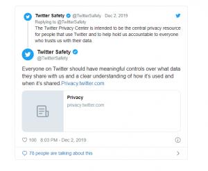 تويتر تطلق مركزًا للخصوصية وحماية البيانات 1
