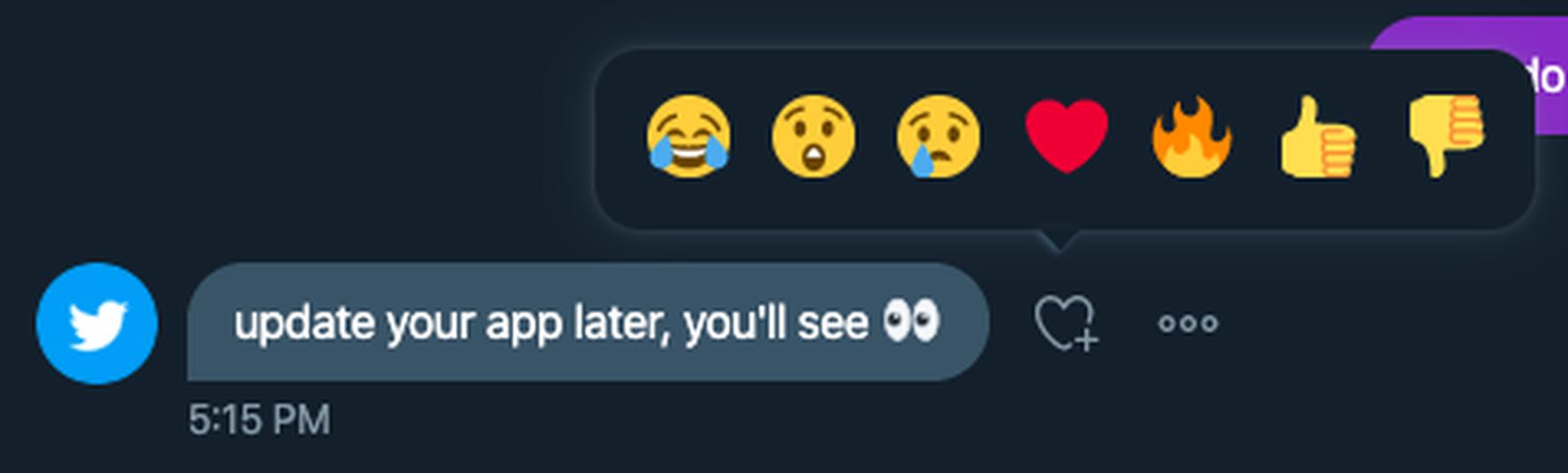 تويتر يجلب ردود الفعل التعبيرية لتوجيه الرسائل 1