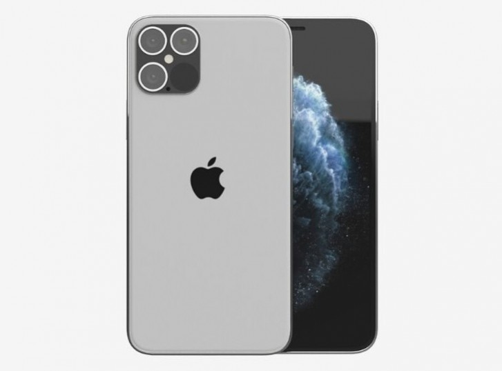 يحتوي هاتف 2020 iPhone Pro على جانب مسطح ومتغير شاشة أكبر 1