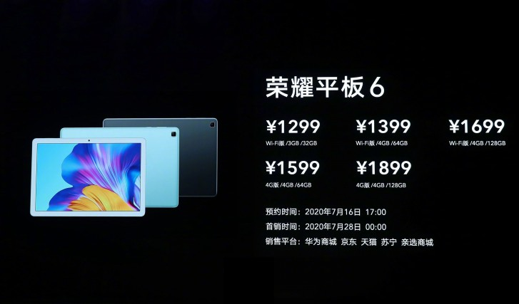كشف النقاب رسميا عن جهاز Honor Tablet 6 و X6 3