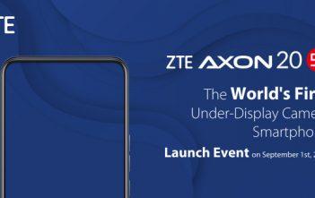 سيحتوي هاتف Axon 20 5G الذكي من ZTE على أول كاميرا تحت الشاشة