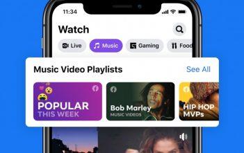 يضيف فيسبوك مقاطع فيديو موسيقية رسمية في الولايات المتحدة
