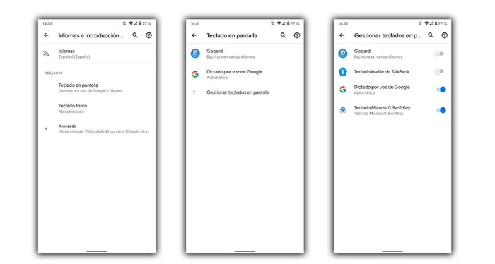 تغيير لوحة مفاتيح Android