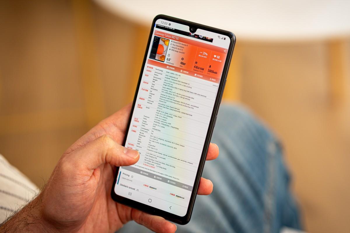 هاتف Samsung Galaxy A42 5G قيد المراجعة 1