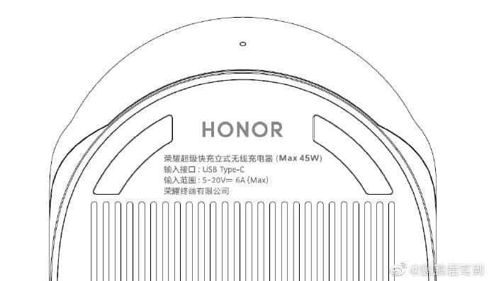 شاحن لاسلكي 50 واط لجهاز Honor V40