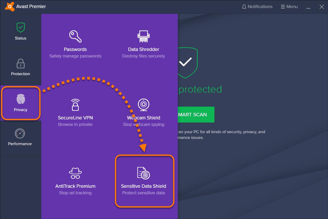 برنامج avast security & privacy